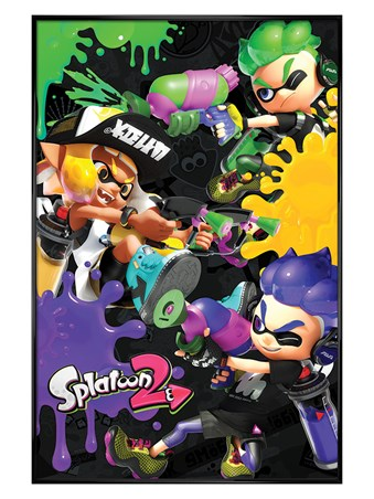 Gloss Black Framed 3 Way Battle - Splatoon 2