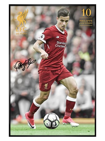 Gloss Black Framed Coutinho 17-18 - Liverpool