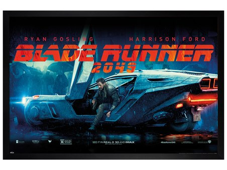 Black Wooden Framed Flying Car - Blade Runner 2049