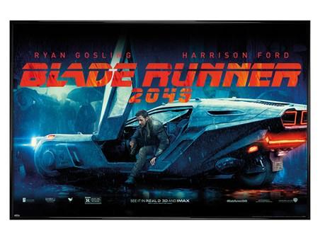 Framed Gloss Black Framed Flying Car - Blade Runner 2049