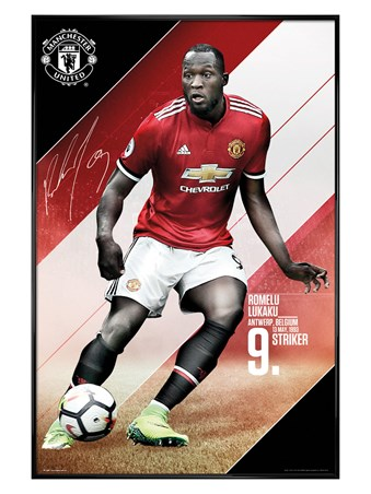 Framed Gloss Black Framed Lukaku 17-18 - Manchester United