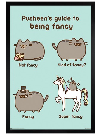 Black Wooden Framed Super Fancy - Pusheen