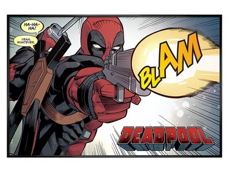 Gloss Black Framed Blam - Deadpool