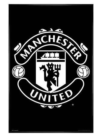 Gloss Black Framed Crest 17-18 - Manchester United