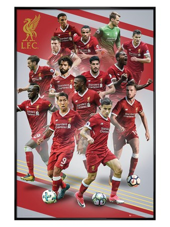 Gloss Black Framed Players 17-18 - Liverpool