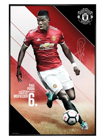 Gloss Black Framed Pogba 17-18 - Manchester United