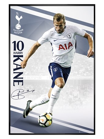 Gloss Black Framed Kane 17-18 - Tottenham