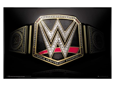 Framed Gloss Black Framed Title Belt - WWE