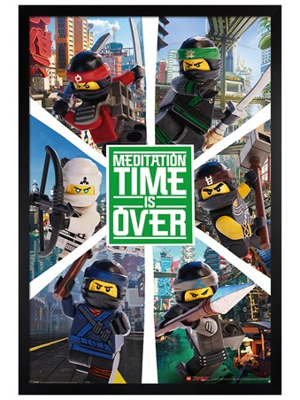 Black Wooden Framed Ninjago Movie Six Ninjas - LEGO®