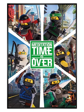 LEGO® Ninjago Movie Six Ninjas - Gloss Black Framed