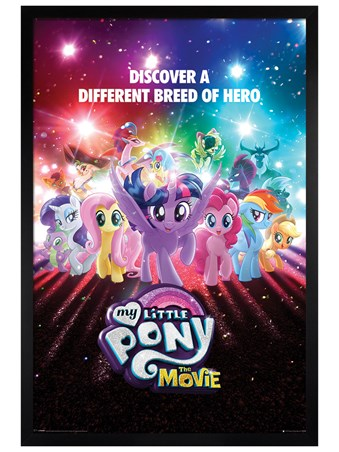 Black Wooden Framed A Different Breed of Hero - My Little Pony Movie