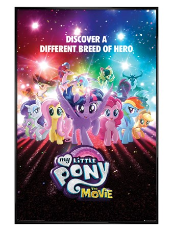Gloss Black Framed A Different Breed of Hero - My Little Pony Movie