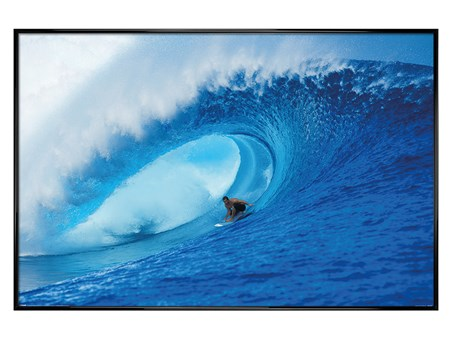 Gloss Black Framed Riding The Wave - A Deep Blue View