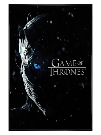 Gloss Black Framed Season 7 Night King PopArtUK - Game Of Thrones