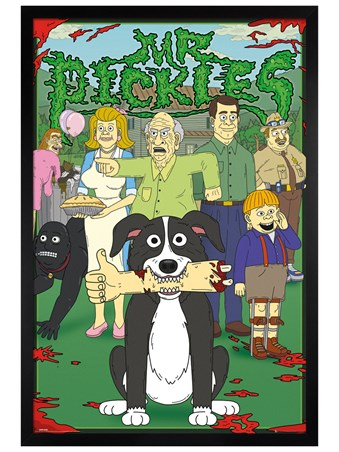 Black Wooden Framed Characters - Mr. Pickles