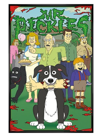 Gloss Black Framed Characters - Mr. Pickles