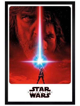 Black Wooden Framed The Last Jedi Teaser - Star Wars