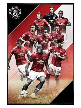 Gloss Black Framed Players 17-18 - Manchester United