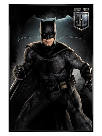 Gloss Black Framed Batman Solo - Justice League