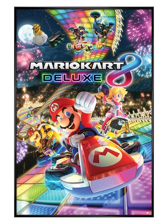 Gloss Black Framed Intergalactic Disco - Mario Kart 8 Deluxe