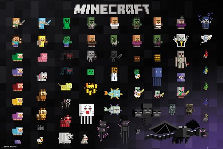 Framed Pixel Sprites - Minecraft