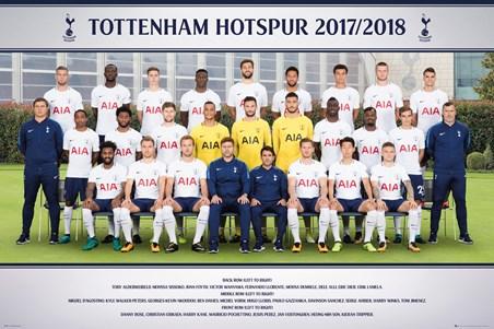 Framed Photo 17-18 - Tottenham Team