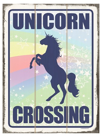 Caution! - Unicorn Crossing