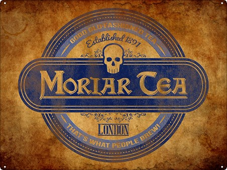Framed Moriar Tea Tin Sign - Old-Fashioned Tea