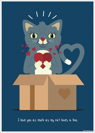 I Love You As Much As My Cat Loves A Box - Feline Love