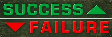 Framed Success Vs Failure - Motivational