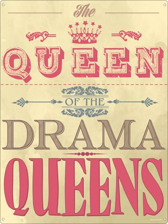 Framed Queen Of The Drama Queens - Claim Your Throne