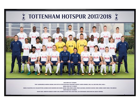 Gloss Black Framed Team Photo 17-18 - Tottenham