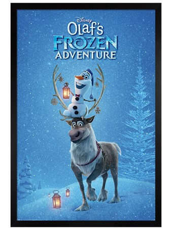 Black Wooden Framed Ready For Action - Olaf's Frozen Adventure