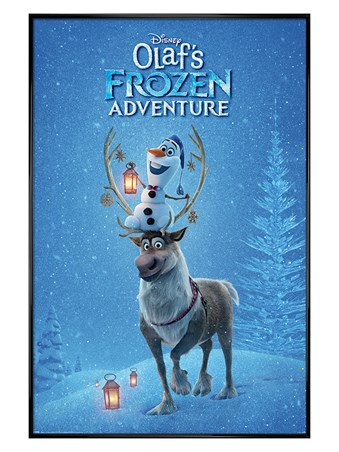 Gloss Black Framed Ready For Action - Olaf's Frozen Adventure