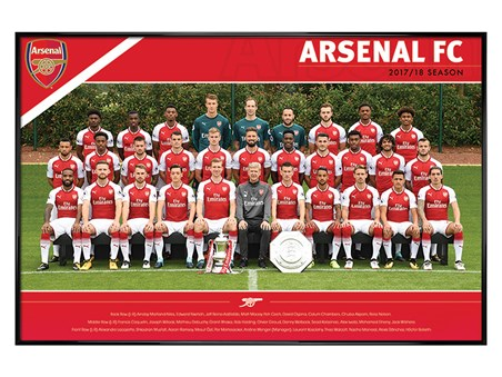 Gloss Black Framed Team 17/18 - Arsenal FC