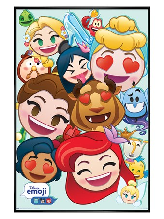 Gloss Black Framed Emoji Princess - Disney