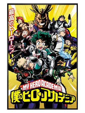 Framed Gloss Black Framed Season 1 Cast - My Hero Academia
