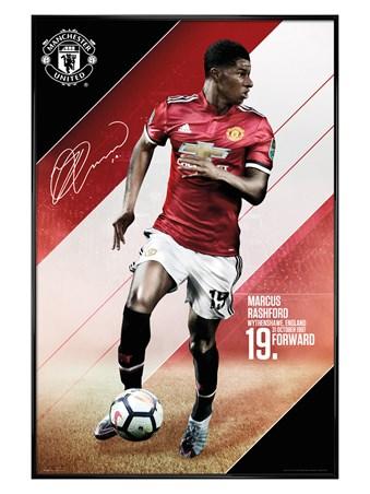 Framed Gloss Black Framed Rashford 17-18 - Manchester United
