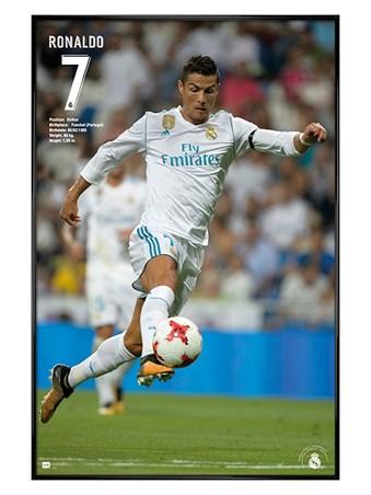 Gloss Black Framed Ronaldo 17/18 - Real Madrid FC