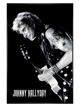 Gloss Black Framed Lone Wolf - Johnny Hallyday