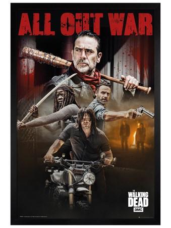 Black Wooden Framed Season 8 Collage - The Walking Dead