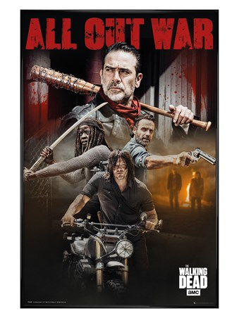 Gloss Black Framed Season 8 Collage - The Walking Dead