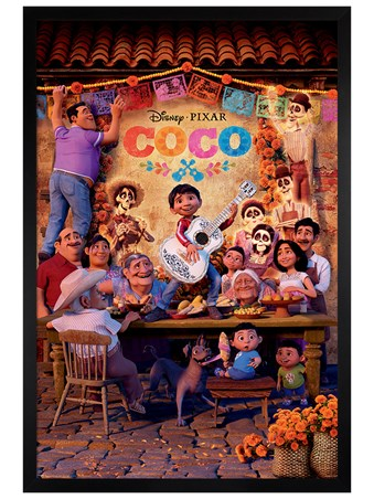 Black Wooden Framed Familia - Disney's Coco