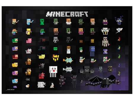 Black Wooden Framed Pixel Sprites - Minecraft