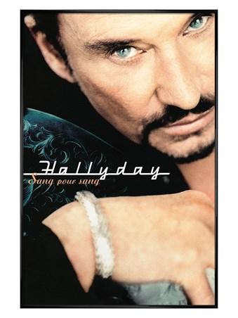 Gloss Black Framed Sang Pour Sang - Johnny Hallyday