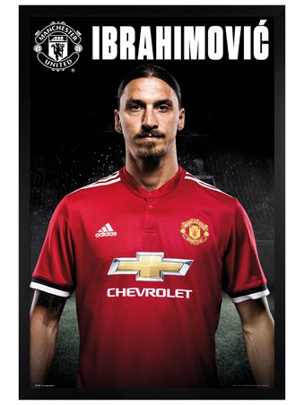 Black Wooden Framed Zlatan Stand 17-18 - Manchester United