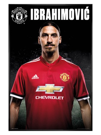 Gloss Black Framed Zlatan Stand 17-18 - Manchester United