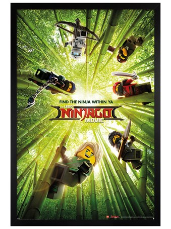Framed Black Wooden Framed Bamboo - LEGO® Ninjago Movie