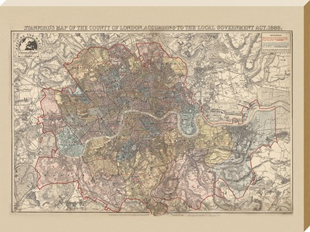 Map of the County of London (1888) - Stanfords