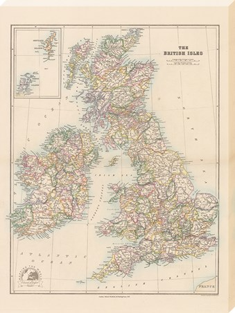 Stanfords Folio British Isles Map - 1884